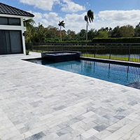 Marble Poold Deck Installation